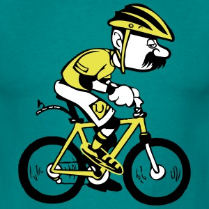Fiets grappige cartoon oude man T-shirts - Mannen T-shirt
