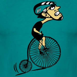 Bicycle oldtimer humorous uphill T-Shirts - Men's T-Shirt