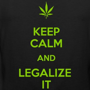 Keep calm and legalize it - Männer Premium Tank Top