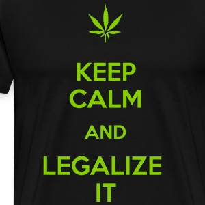 Keep calm and legalize it - Männer Premium T-Shirt