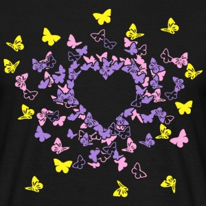 Butterfly Heart In Colour 2 T-Shirts - Männer T-Shirt