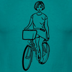 Bicycle girl woman T-Shirts - Men's T-Shirt