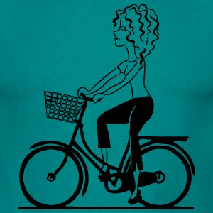 bike shop girl T-Shirts - Men's T-Shirt