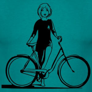 Bicycle girl cool T-Shirts - Men's T-Shirt