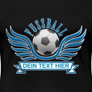 fussball_wings_052015_a T-Shirts - Frauen Premium T-Shirt