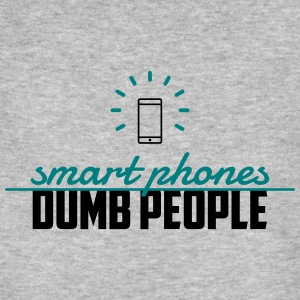 smart phones, dumb people T-Shirts - Männer Bio-T-Shirt