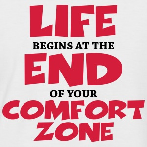 Life begins at the end of your comfort zone T-shirts - Mannen baseballshirt korte mouw