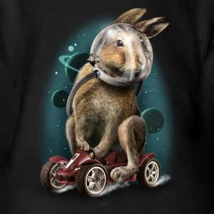 RABBIT RACER - Organic Short-sleeved Baby Bodysuit
