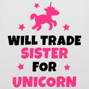 Will trade sister for unicorn Bags & Backpacks - Tote Bag