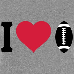 I love football T-Shirts - Frauen Premium T-Shirt