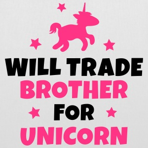Will trade brother for unicorn Bags & Backpacks - Tote Bag
