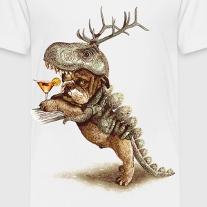 White  Dog - Dinosaur Shirt - Kids' Premium T-Shirt