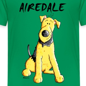 Witziger Airedale Terrier T-Shirts - Kinder Premium T-Shirt