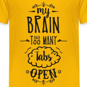 my brain - dark T-Shirts - Teenager Premium T-Shirt