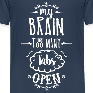 my brain - white T-Shirts - Teenager Premium T-Shirt