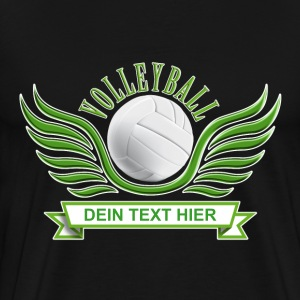 volleyball_wings_052015_a T-Shirts - Männer Premium T-Shirt
