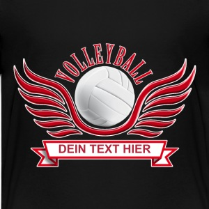 volleyball_wings_052015_c T-Shirts - Teenager Premium T-Shirt