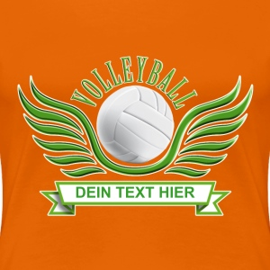 volleyball_wings_052015_a T-Shirts - Frauen Premium T-Shirt
