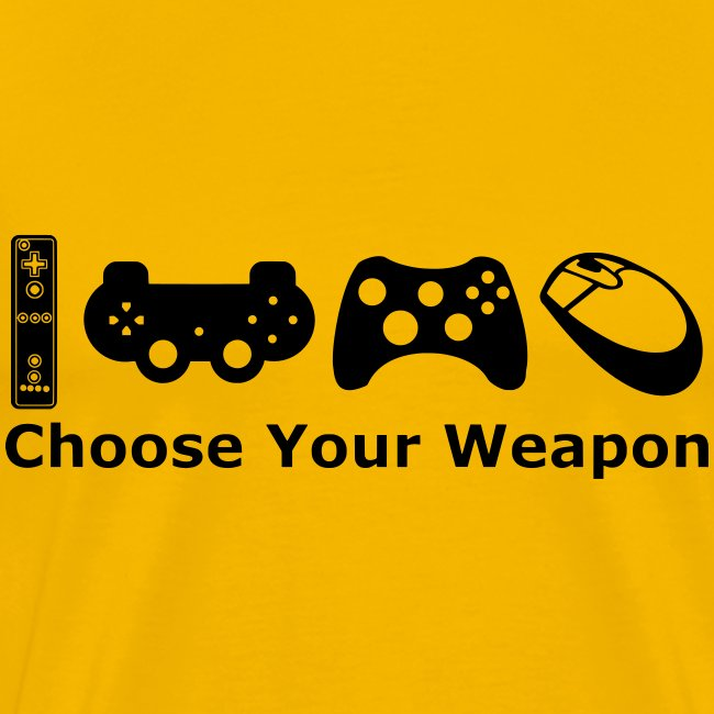 Mens Choose Weapon T-Shirt