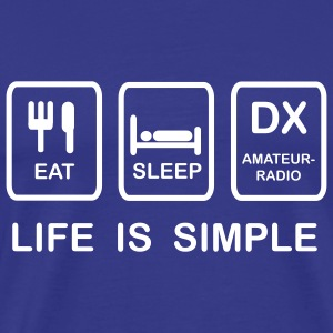 HAM RADIO - life is simple - Männer Premium T-Shirt