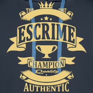 Escrime Sweat-shirts - Sweat-shirt à capuche Premium pour hommes