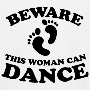 BEWARE this woman can dance Shirts - Kids' Baseball T-Shirt