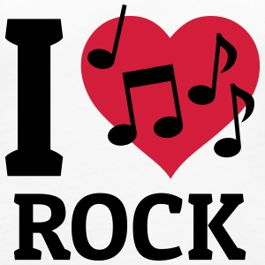 I love Rock amo il rock Top - Canotta premium da donna