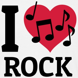 I love Rock jeg elsker rock T-shirts - Herre-T-shirt