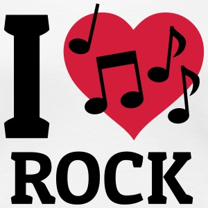 I love Rock T-Shirts - Frauen Premium T-Shirt