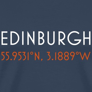 Edinburgh scotland coordinates - Men's Premium T-Shirt
