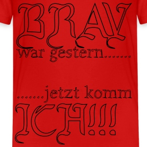 kindershirt mit aufdruck lustig,rot - Teenager Premium T-Shirt