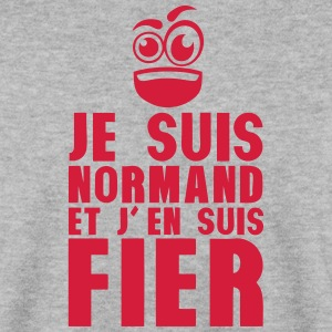 je suis normand fier smiley Sweat-shirts - Sweat-shirt Homme
