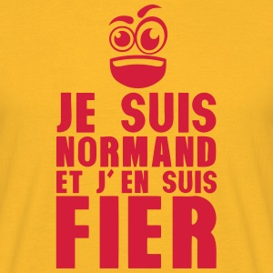 je suis normand fier smiley Tee shirts - T-shirt Homme