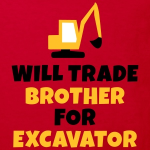 Will trade brother for excavator kommer handeln bror för grävmaskin T-shirts - Ekologisk T-shirt barn