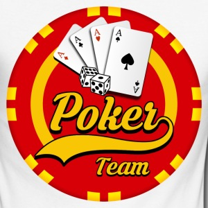 poker team 03 Manches longues - T-shirt baseball manches longues Homme