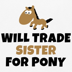Will trade sister for pony negociará a hermana para pony Manga larga - Camiseta de manga larga premium niño