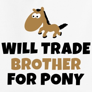 Will trade brother for pony zal de handel broer voor pony Sweaters - Kinderen trui Premium met capuchon