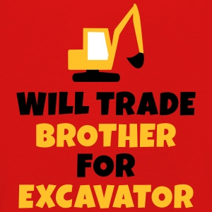 Will trade brother for excavator Langarmshirts - Kinder Premium Langarmshirt