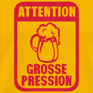 attention grosse pression biere humour Tee shirts - T-shirt Premium Homme