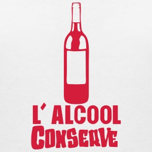 alcool conserve bouteille vin humour Tee shirts - T-shirt col V Femme