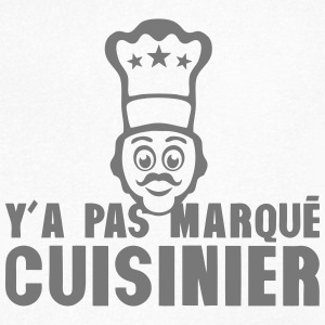 y a pas marque cuisinier toque chef Tee shirts - T-shirt Homme col V
