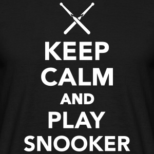 Keep calm and play Snooker T-Shirts - Männer T-Shirt