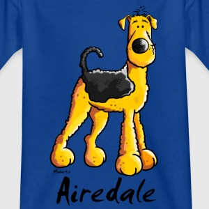 Fröhlicher Airedale Terrier T-Shirts - Kinder T-Shirt
