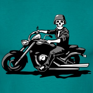 Motorcycle chopper cool skull steel helmet T-Shirts - Men's T-Shirt