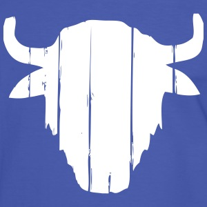 Vintage Buffalo Skull  T-Shirts - Men's Ringer Shirt
