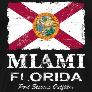 Florida Flag  -  Vintage Look Tee shirts - T-shirt Premium Homme