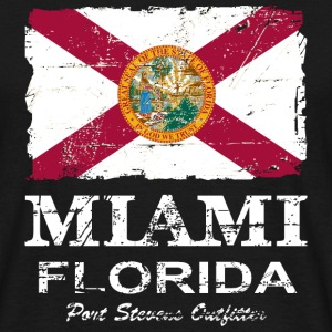 Florida Flag  -  Vintage Look Tee shirts - T-shirt Homme