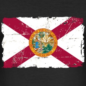 Florida Flag  -  Vintage Look T-Shirts - Men's Slim Fit T-Shirt