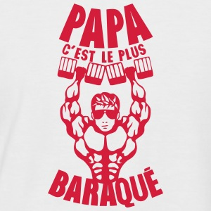 papa baraque muscle bodybuilder haltere Tee shirts - T-shirt baseball manches courtes Homme