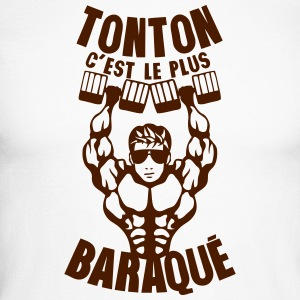 tonton baraque muscle bodybuilder halter Manches longues - T-shirt baseball manches longues Homme